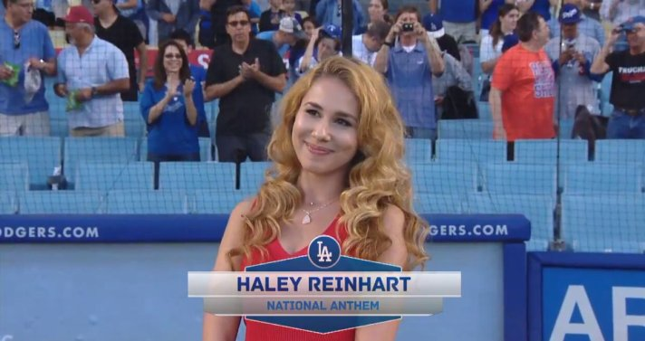 Watch Haley Reinhart S National Anthem Performance For The